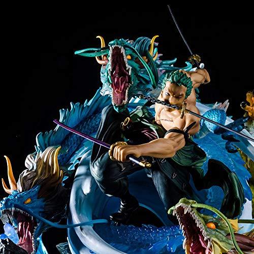 SSBB Carácter Tres Mil Mundial Roronoa Zoro Figura De Acción Colección Animada Modelo De La Decoración Estatua 40CM -Figuras De La Mano