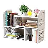 Small Bookshelf for Desktop Storage, Mini Narrow...