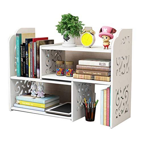 Small Bookshelf for Desktop Storage, Mini Narrow Desk White Versatility Organizers for Women, Kids, Men for Office Decor Accessories