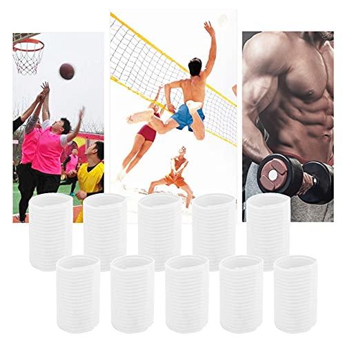 BOLORAMO Mangas para Dedos Deportivos, 10 Piezas Transpirables promueven la recuperación Cinta de Dedos Transpirable para Baloncesto Interior para Baloncesto para Voleibol de Playa