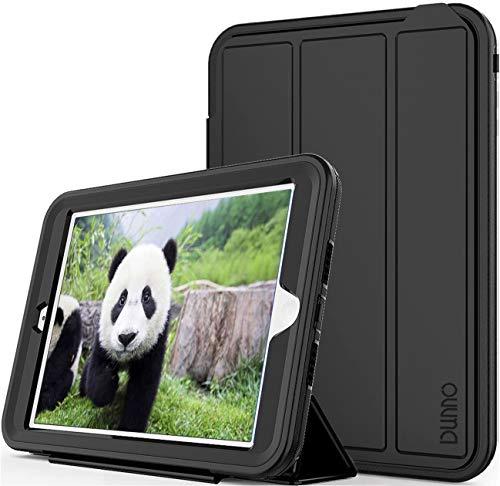 DUNNO iPad mini case - Three Layer Heavy Duty Full Body Protective Stand Cover Case for Apple iPad mini 1/2/3 (Black/Blue)