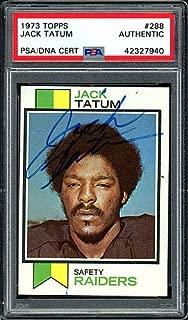 Jack Tatum Autographed Memorabilia 1973 Topps Rookie Card #288 Oakland Raiders - PSA/DNA Authentic