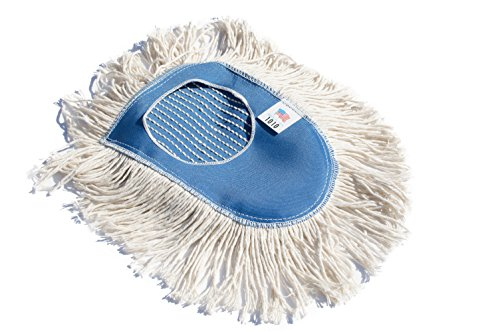 Nine Forty Industrial Strength Ultimate Cotton Floor Dust Mop Wedge Refill   Commercial Cleaner Mop Head Replacement
