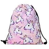 YuYfashions Men's Women's Print Shoulder Drawstring Bag Backpack String Bags School Rucksack Gym Handbag (Animals,Foods) 15'x11' Beam Mouth Package A3962 Mochila con Lazo