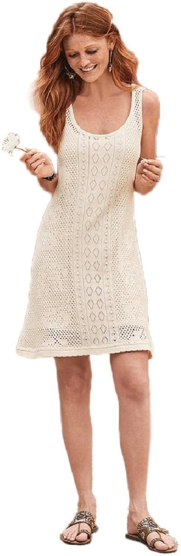 NFASHIONSO Women's Crochet Swimsuit Cover Up Beach Dress