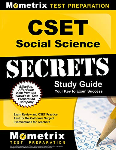 Compare Textbook Prices for CSET Social Science Secrets Study Guide - Exam Review and CSET Practice Test for the California Subject Examinations for Teachers [] 2nd Edition ISBN 9781516722105 by Mometrix Test Prep