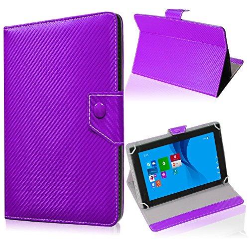 UC-Express Tablet Tasche für Medion Lifetab S10345 S10346 Hülle Schutzhülle Carbon Hülle Bag, Farben:Lila