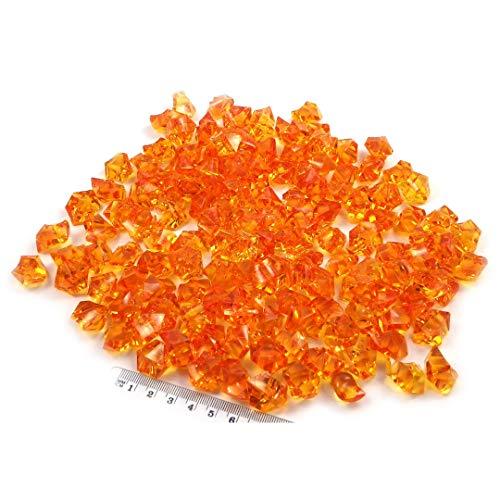 Sepkina wunderschöne Dekosteine Dekosteinchen Ziersteine Tischdeko Hochzeit Steine dekorieren aus Acryl (Orange)