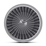 PLEASUR Radiocommandé Jet Engine Turbine Fan Aviator Horloge Murale Avion Moderne Mur Art Horlogerie Aviation Décor À La Maison Jet Oeuvre Pilote Montre Murale