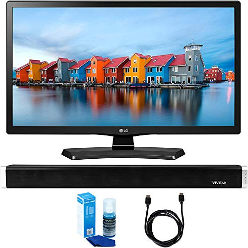 LG 24LH4830-PU 24-Inch Smart LED TV (2017 Model) w/Sound Bar Bundle Includes, Vivitar 24-Inch Wall Mountable Wireless Bluetooth Soundbar, 6ft High-Speed HDMI Cable and LED TV Screen Cleaner