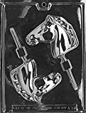 Grandmama's Goodies A087 Horse Head Lollipop SuckerChocolate Candy Soap Mold with Exclusive Molding Instructions … (1)