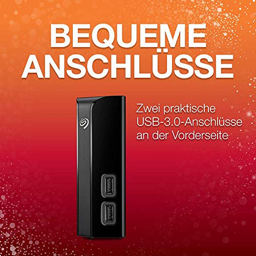 Seagate Backup Plus HUB, externe Festplatte mit 2-fach USB Hub 8 TB, 3.5 Zoll, USB 3.0, PC, Notebook & Mac, inkl. 2 Jahre Rescue Service,Modellnr.: STEL8000200