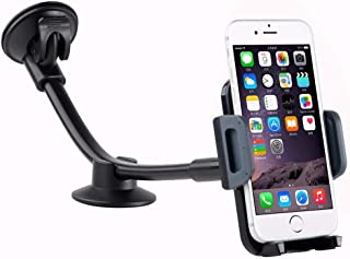 Car Phone Mount, Universal Windshield Dashboard Long Arm Cell Phone Car Holder Mount Cradle Bracket for iPhone Galaxy Most...