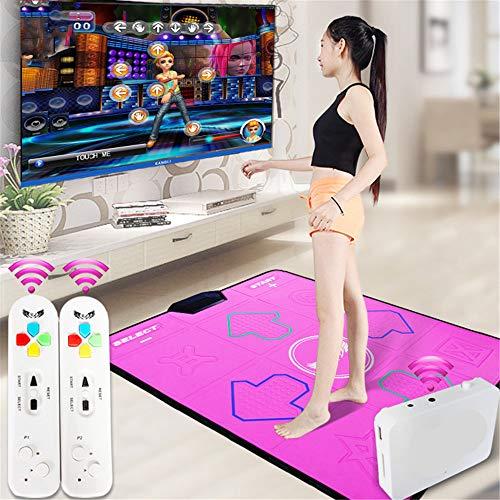 QHGao Draadloze Single Dance Mat, Niet-slip Gewichtsverlies Oefening Fitness Dance Machine, TV Computer Dual-Use, Ondersteuning Geheugenkaart Download, Milieuvriendelijk Materiaal