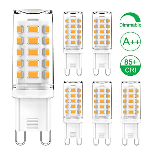 G9 LED Dimmbar Warmweiß 3W Entspricht 28W-40W Halogenlampen, G9 LED Lampe, Kein Flimmern, 325LM, 2700K, AC 220V-240V, G9 Bi-Pin-LED-Kapselbirne, 5er-Pack, CHEERBEE