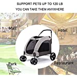 Dog Stroller For Large Pet Jogger Stroller For 2 Dogs Breathable Animal Stroller With 4 Wheel And Storage Space Pet Can Easily Walk In/Out Travel Up To 120 Lbs(55kg) 15