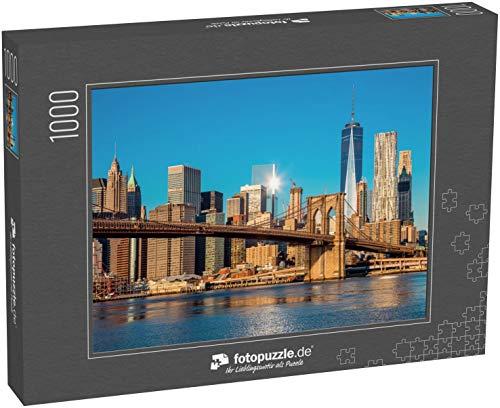 Puzzle 1000 Teile Berühmte Skyline der Innenstadt von New York - Klassische Puzzle, 1000/200/2000 Teile, in edler Motiv-Schachtel, Fotopuzzle-Kollektion 'USA'