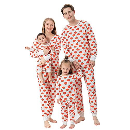 K-Youths 2PCS Mono de Manga Larga con Estampado - Ropa de Dormir Suave y cómoda - Conjunto de Pijamas navideños Familiares a Juego Conjunto de Lindo Disfraz de Manga Larga