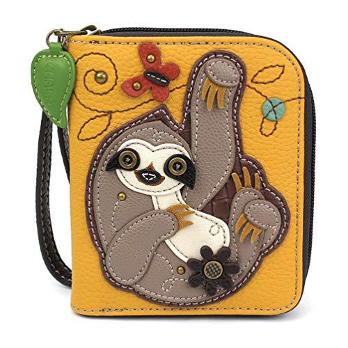 CHALA Zip-Around Wallet - Sloth-Yellow