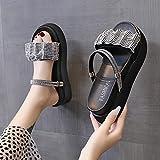 Perferct Chanclas Mujer Baratas,Use 2021 En El Verano 2021 New Summer Fashion Torta De Pino De Fondo Grueso, Arrastre,...