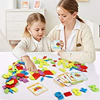 Lewo 230 Pezzi Blocchi di Legno Puzzle di Legno Classico educativo Giocattoli Montessori Set di Tangram per Bambini #4