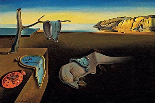 time4art Salvador Dali Surrealism The Persistence of Memory Print Canvas Bild auf Keilrahmen Leinwand (90x60cm)