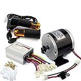24 V 36 V 350 W DC Eléctrico Motor de Monopatín Eléctrico DIY 350 W Motor Kit Motor eléctrico de la bici de Alta Calidad MOTOR Uso 25 H Cadenas (24V350W throttle kit)