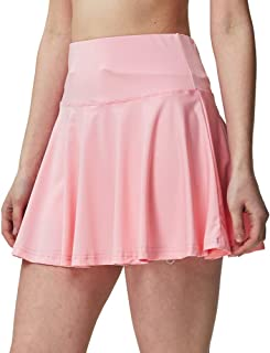 CNSSKJ Pink Tennis Skirt for Women Athletic Pleated Mini Skirt Active Skort with Pockets for Running Golf Yoga Pink 3XL=US...