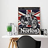 Generic Branded Letrero de metal para pared de metal con la bandera británica, signo de la bandera británica, signo de metal