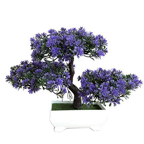 Bienvenido Pine Bonsai Tree, Artificial Bonsai Tree, Simulación Plant Flower Bonsai Set, Plantas Artificiales En Macetas Decoración Del Hogar Para Jardines Escritorio Escritorio De Oficina