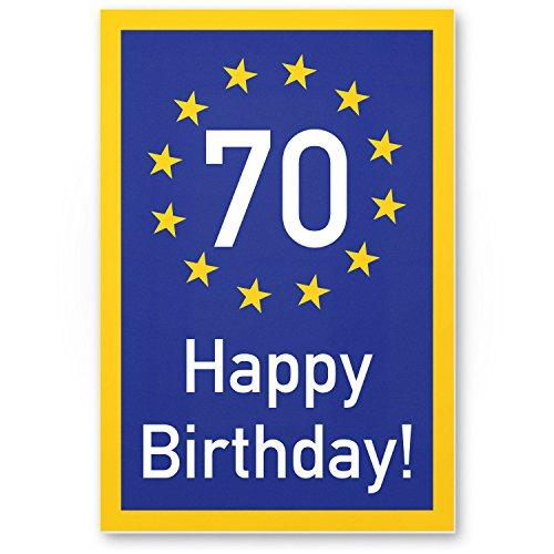 Bedankt! 70 jaar Happy Birthday - plastic bord, cadeau 70e verjaardag, cadeau-idee verjaardagscadeau zeventig, verjaardagsdeco/partydecoratie/feestaccessoires/verjaardagskaart