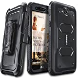COVRWARE Aegis Series Case Compatible with LG X Power 2 / Fiesta 2 / X Charge / Fiesta LTE / K10 Power with Built-in Screen Protector Heavy Duty Full-Body Rugged Holster Armor Case Belt Clip, Black