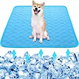 PetCoolingMat SummerIceSilk Fabric Pet Pad DogCoolingMat PetCoolingBlanketSleepingPadforDogCatsPetsOutdoor and Indoor Use (X-Large)