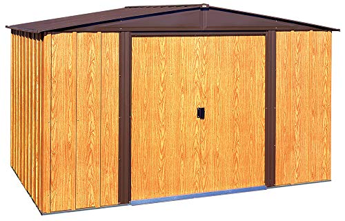 Arrow WL108 Woodlake 10-Feet by 8-Feet Steel Storage Shed