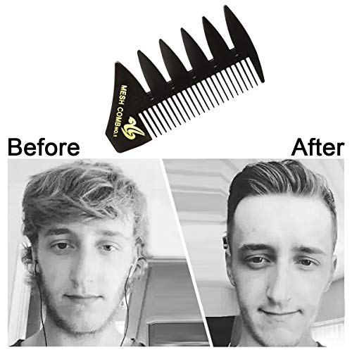 2 PCS Hair Comb Styling Set Barber Professional Accessories - Portable Shaping and Teasing Wet Combs Tools, Anti Static Hair Brush for Men Boys