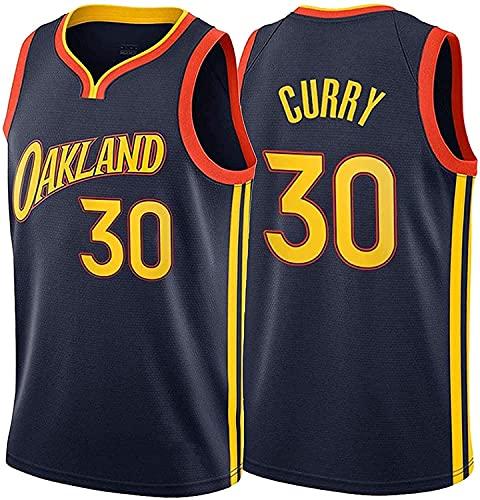 XZWQ Camisetas De Baloncesto para Hombre: Camisetas De NBA Stephen Curry # 30 Warriors, Camiseta De Baloncesto Unisex Cómodas Camisetas De Chaleco De Baloncesto De Malla Bordada,Azul,XXL