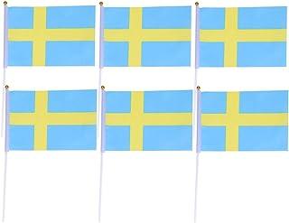 Stobo 50 stuks hand kleine Mexico vlaggen op sticks International World Country stick vlaggen banner party decoratie Schwe...