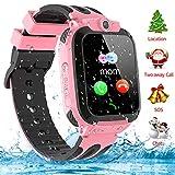 Kinder Smartwatch Telefon Uhr, Vannico Wasserdicht Kids Smart Watch f¨¹r Kinder mit SOS Anruf, Geschenk f¨¹r Jungen M?dchen (Pink)
