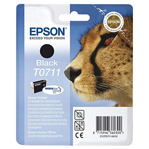 Ink cartridge Original Epson 1x Black C13T07114010 / T0711 for Epson Stylus DX 4050