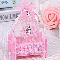 誕生日のベビーシャワーのキャンディボックスの結婚式のパーティー用品は、創造的なクレードル型のボックスギフトキャンディバッグ個入りをパーソナライズ (Color : B)
