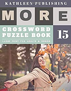 Crossword Books for Adults Large Print: Crosswords for Teenagers | More Crosswords Quiz for beginners Large Print for adults & senior | happy life design (crossword books quick)