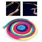 MAGT Cuerda Rítmica, Cuerda de Gimnasia rítmica de Color arcoíris Cuerda de competición de Artes sólidas Cuerda de Entrenamiento de Salto de Nylon for Juegos Oficiales