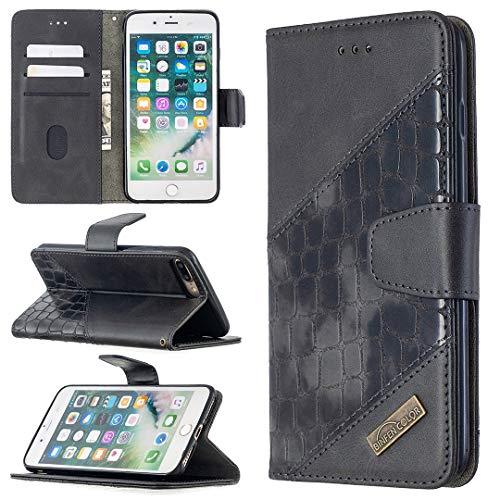 Funda protectora, Estuche para iPhone 7 / 8PLUS Multifuncional Cartera Teléfono Móvil Caja de cuero Premium Color Sólido PU Caja de cuero, Titular de la tarjeta de crédito Función Función Caja plegabl
