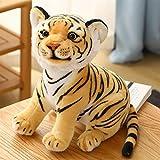 FATEGGS Simulación de Peluche Juguetes Simulación Tigre Peluche Juguetes Kawaii Salvaje Animal Vida Tigre Relleno Suave Muñeca Regalo para De Cumpleaños Decoración Juguetes de Peluche