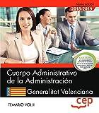 Cuerpo Administrativo de la Administración. Generalitat Valenciana. Temario Vol.II: 2