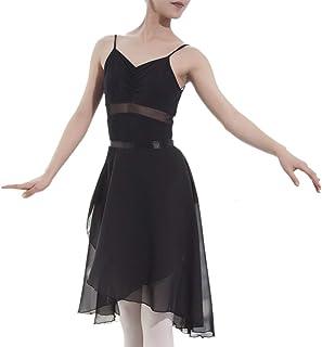 TopTie Ballettrock für Erwachsene Transparenter Wickelrock Ballett Tanz Tanzkleidung