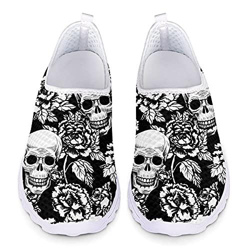Belidome Zapatillas de deporte de malla sin cordones para mujeres y hombres, zapatos deportivos, color, talla 38 EU