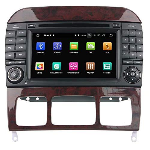 Autoradio ROADYAKO stéréo pour la Classe de Benz W220 / S280 / S320 / S350 / S400 / S430 / S500 2002 2003 2004 Android 8.0 GPS de Navigation 3G WiFi Lien de Miroir RDS FM AM Bluetooth