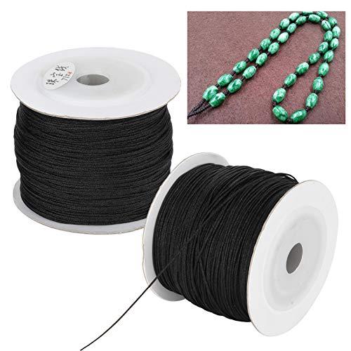 Cuerda trenzada, alambre de poliamida portátil, para profesionales de abalorios, ensartar pulseras, collares