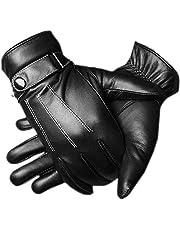 adelphos 手袋 メンズ スマホ タッチパネル対応 撥水 グローブ 自転車 バイク 裏起毛 防寒